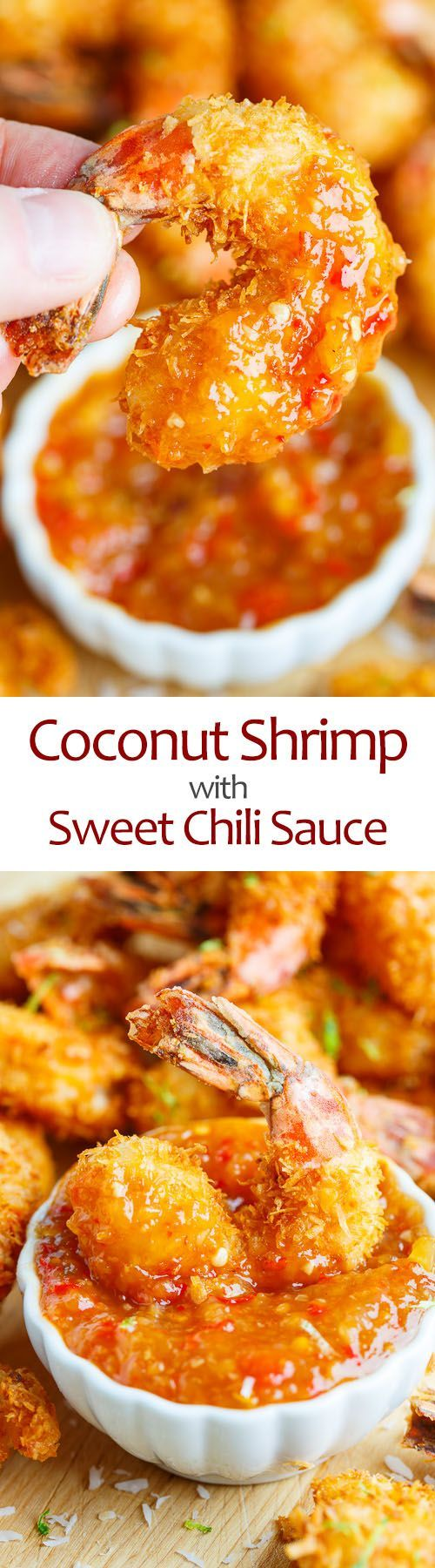 Coconut Shrimp with Sweet Chili Sauce - Don't you just want to taste this! From Kevin- Closet Cooking