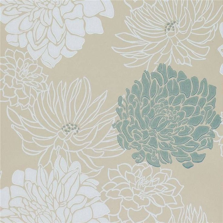 Cream Teal Silver Gold 30483 Divine Extravagance Harlequin Wallpaper Wallpaper