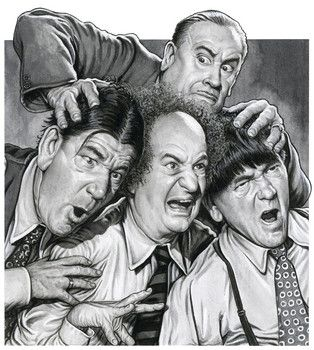 The Three Stooges, Shemp, Larry, Moe and Vernon Dent