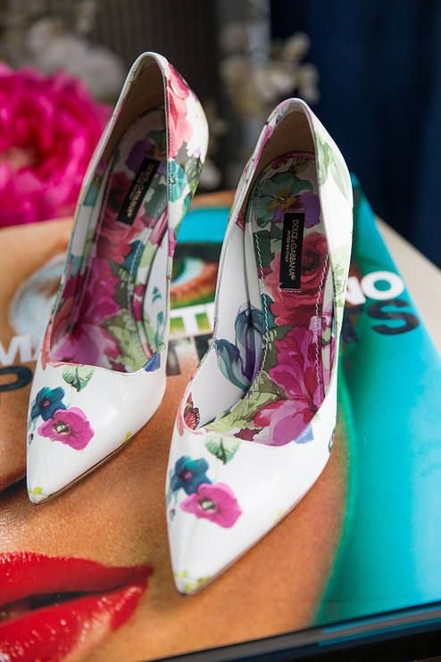 Dolce & Gabbana Floral Print Pumps Love  by Vivaluxury