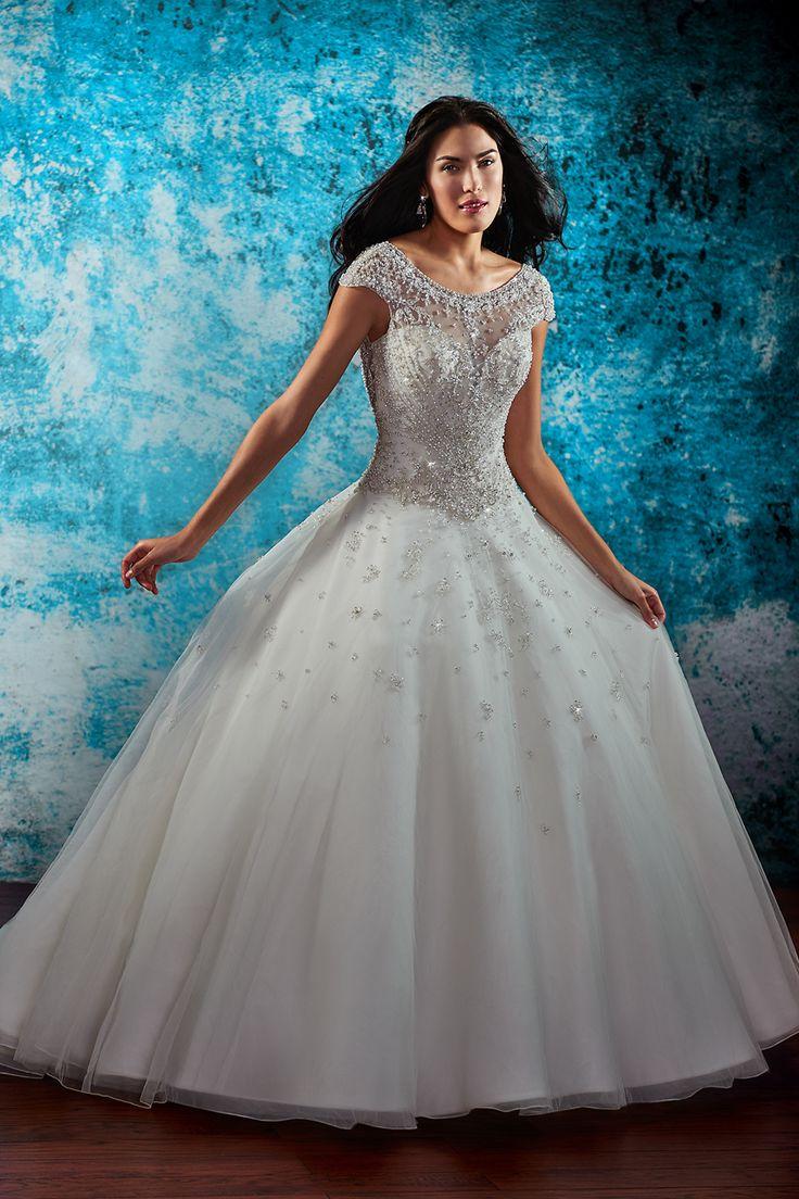 68 best Illusion Neckline | Wedding Gown images on Pinterest ...