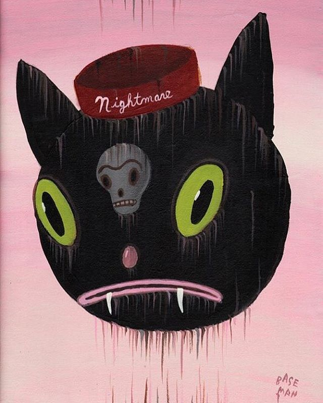 Every night is a NIGHTMARE! This is some 5th anniversary of some live online performance of our now dead Nightmare and the Cat. Always Mourning. Always Loving. Here is some LOVE!! @nightmareandthecat #nightmareandthecat #blackie #caturday #blackmagic #garybaseman #baseman