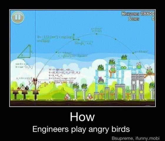 lol: Engineers Play, Nerd, Play Angry, Birds Physics, Funny Stuff, Plays, Angry Birds, Science, Angrybirds
