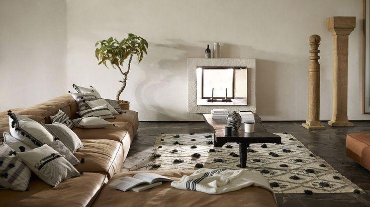 Etno minimalizm w salonie, fot. ZARA HOME