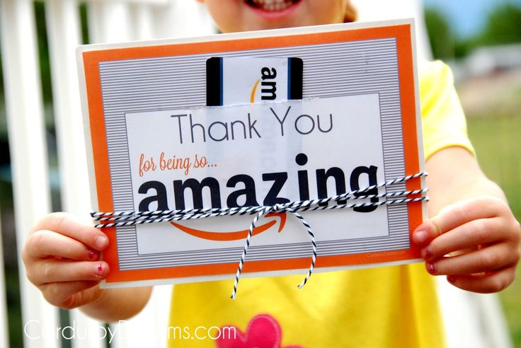 Thank You with Amazon Gift Card {free printable download} - The Creative Mom