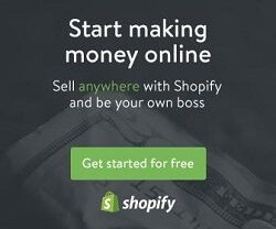 Start a free trial with Shopify.