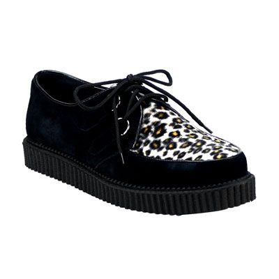 panther creepers http://www.attitudeholland.nl/haar/schoenen/creepers/creepers-laag/creeper-600-black-suede-cheetah-fur/