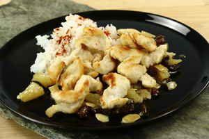 Kylling med ris i ananassauce