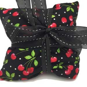 These Cherry Pit Moist Heating Pads are created by a nurse and is the best heating pad that you will ever have!  #heattherapy #heatingpads #relaxation #naturalhealing #cherries