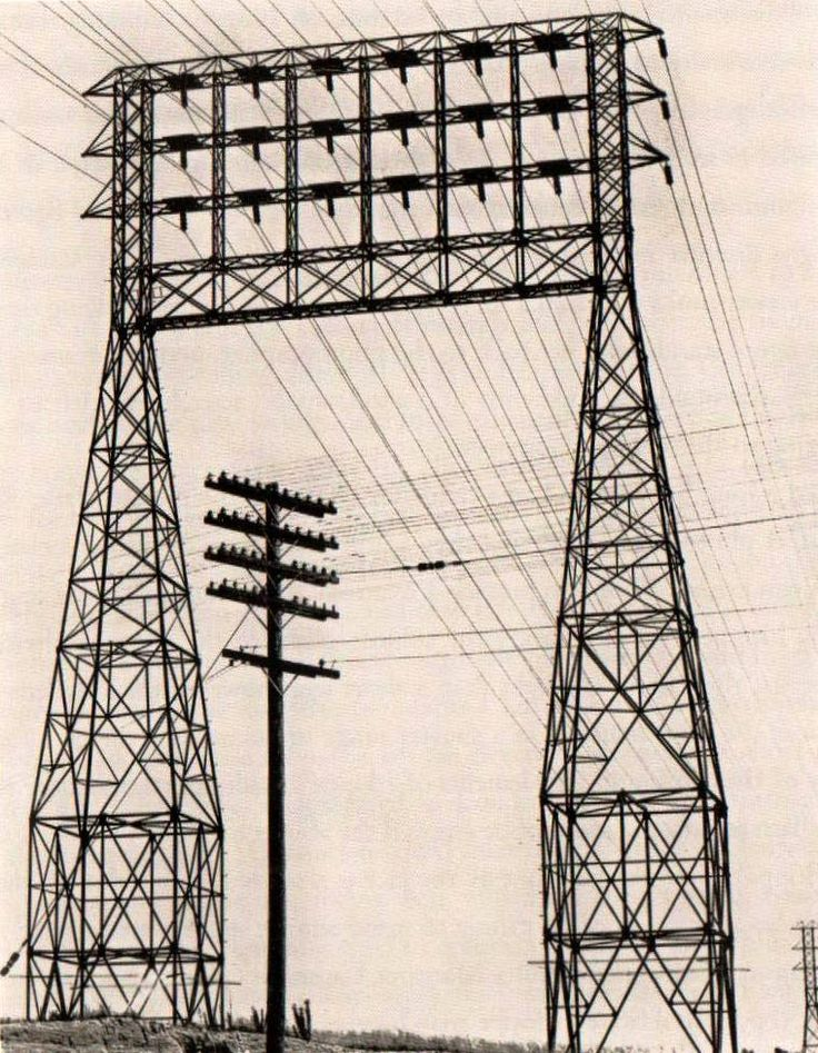 "Power Lines, Lincoln Boulevard, Los Angeles, 1927."" Edward Weston photograph."
