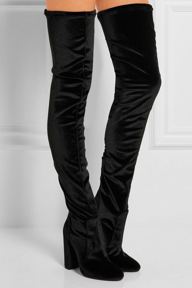 Aquazzura | Velvet over-the-knee boots | NET-A-PORTER.COM