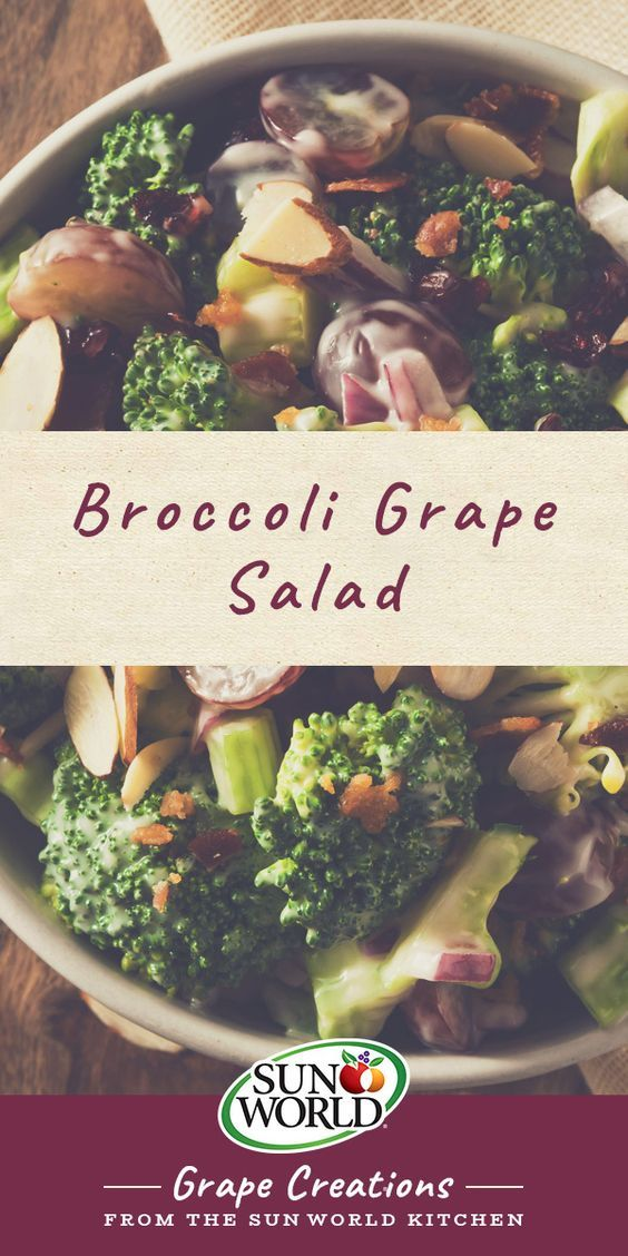 Serve as a side dish or main course, this broccoli grape salad is guaranteed to please.