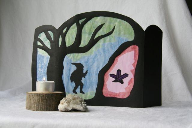 Transparent  Zwerg mit Kristall Höhle