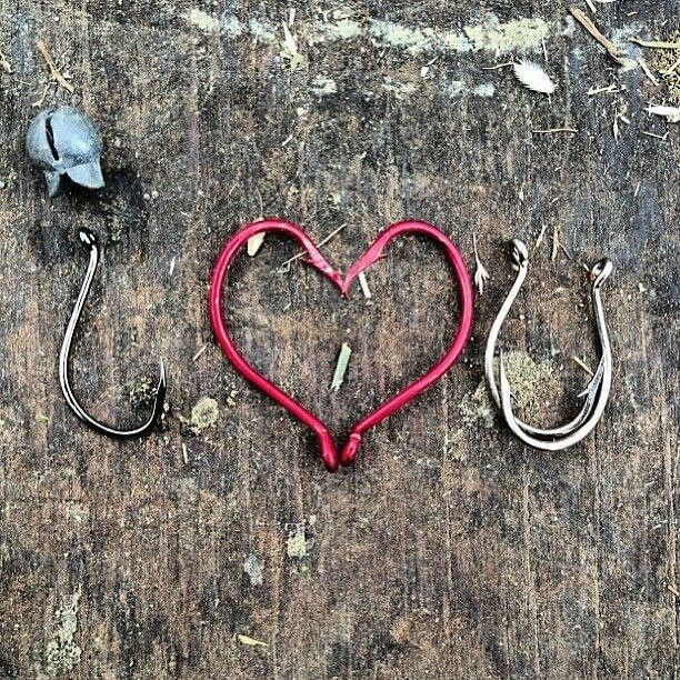 Fishing love... I love this.    He sent me the red hearts  one random day ;)