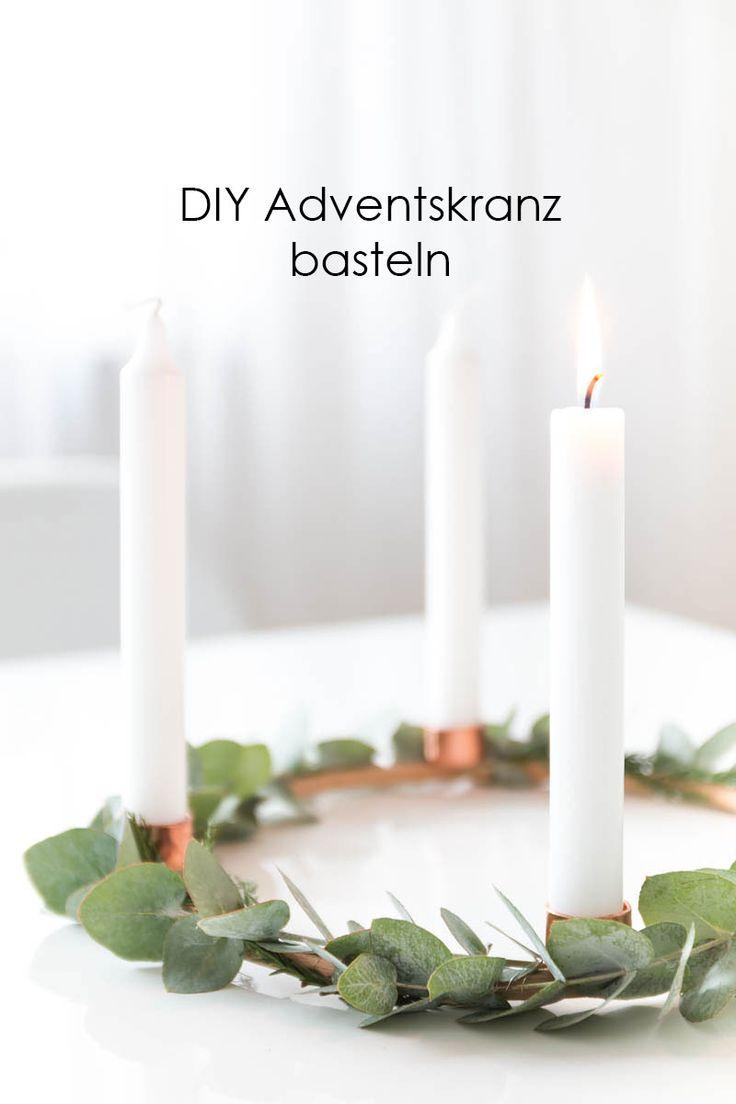 Adventskranz und Adventskalender basteln