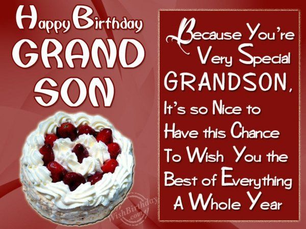 Wishing Special Birthday To My Special Grandson-Tonio