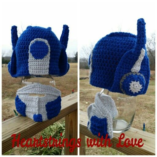 Crochet Pattern For Optimus Prime Hat : 17 Best images about gorros geniales on Pinterest Darth ...