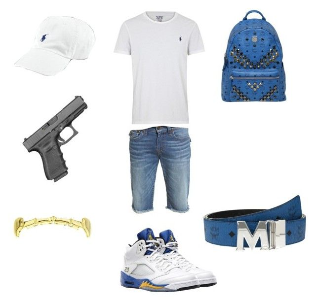 """mall vibez "" by chiefkeefsosaa on Polyvore featuring Polo Ralph Lauren, True Religion, Freaker, MCM, Ralph Lauren, men's fashion and menswear"