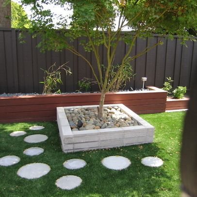 Concrete Rounds For Path Instead Of A Solid Concrete Path   Black Fence,  Garden Boxes