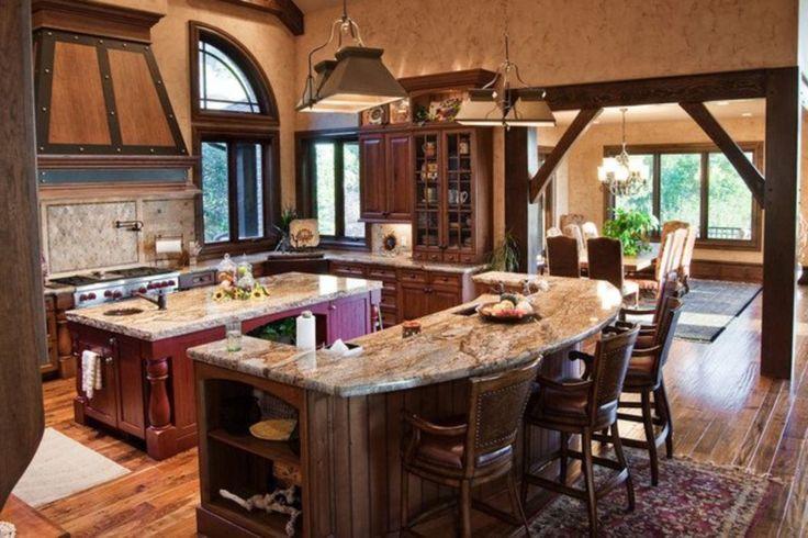 Deluxe custom kitchen island designs (14)