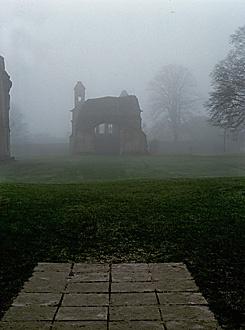 Glastonbury Abbey, King Arthur's final resting place.