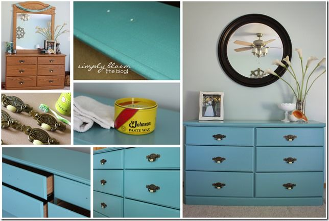 Laminate Dresser Makeover {with Homemade Chalk Paint}