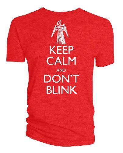 Doctor Who: Keep Calm para hombre con efecto de goteo en Don 't Blink diseño de ángel de T-camiseta de manga corta #camiseta #friki #moda #regalo