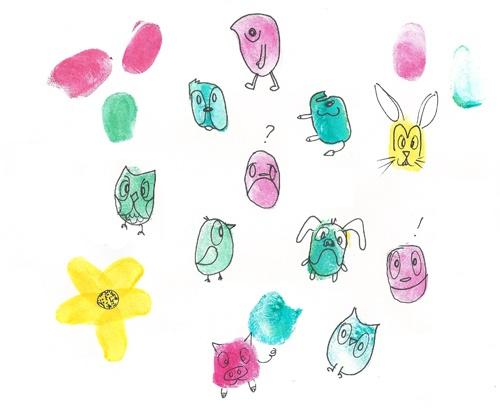 Fingerprint doodles: Fingerprints