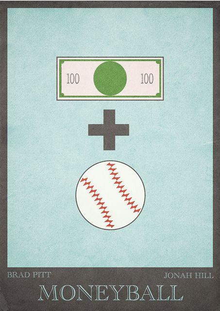 Moneyball (2011) ~ Minimal Movie poster by Mads Svanegaard #amusementphile