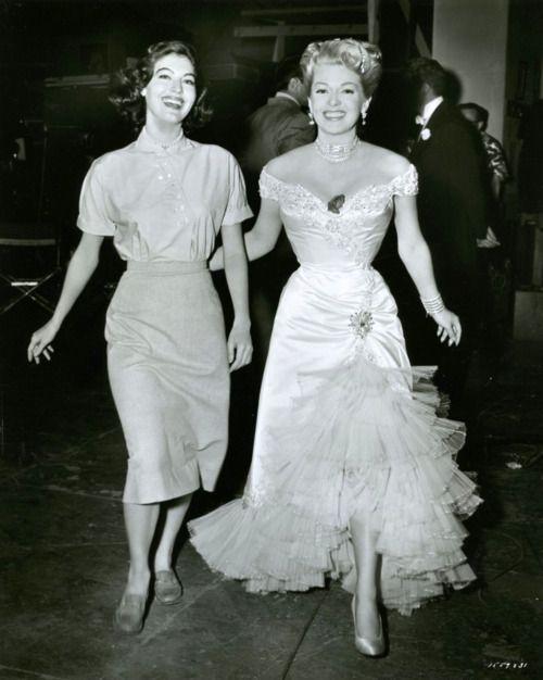 Lana Turner and Ava Gardner