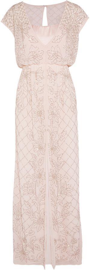 Needle & Thread Aura Chiffon and Satin Maxi Dress