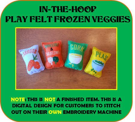 In-The-Hoop Play Frozen Felt Food Embroidey by NewfoundApplique