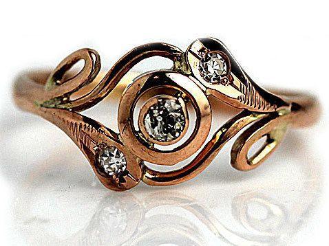 Antique Engagement Ring .16ctw Old European Cut by ArtDecoDiamonds