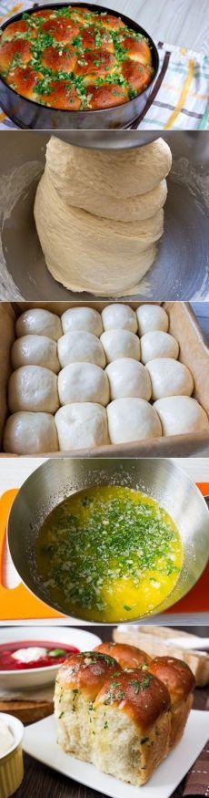 Как приготовить пампушки к борщу за 20 минут  - рецепт, ингридиенты и фотографии