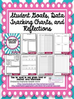 Student Data Folder-Goal Setting, Data Tracking Charts, and Reflections...over 80 different customizable options and teacher tips! $