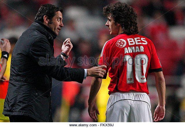 Quique Flores e Pablo Aimar, SL Benfica