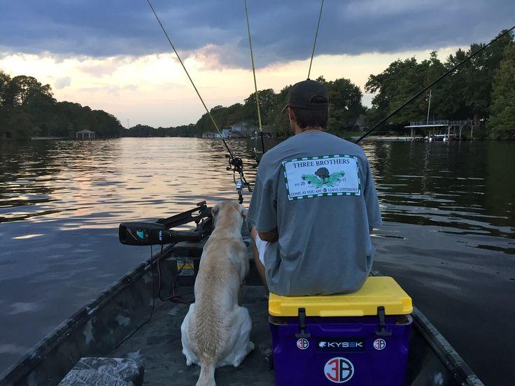 Tyler and Milo enjoying a Sunday evening (Duke shirt and large sticker shown)