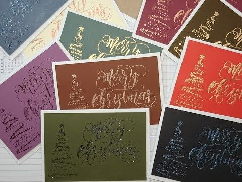 Everyday Christmas #6: 12 different Wow! embossed cards in 30 minutes