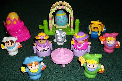 A Fisher Price Little People Easter Bunny Playset Egg Hunt