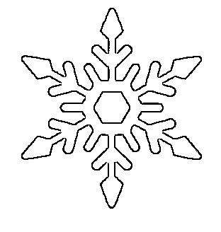 pretty snowflake pattern free printable - Holiday Stencils Free Printables
