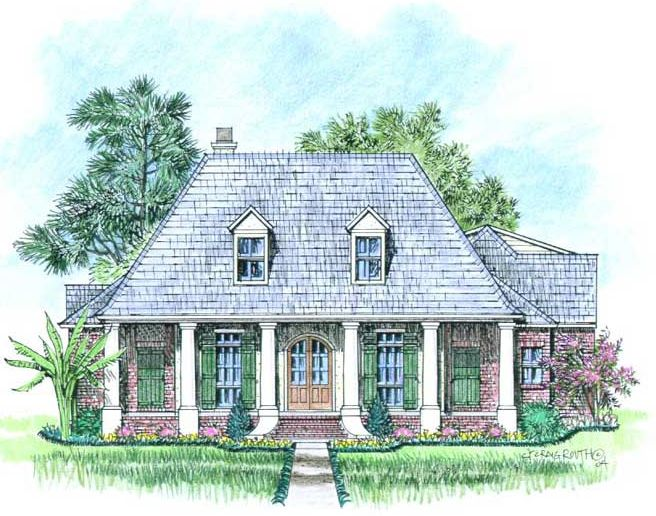French country house plans louisiana french country house for Louisiana french country house plans