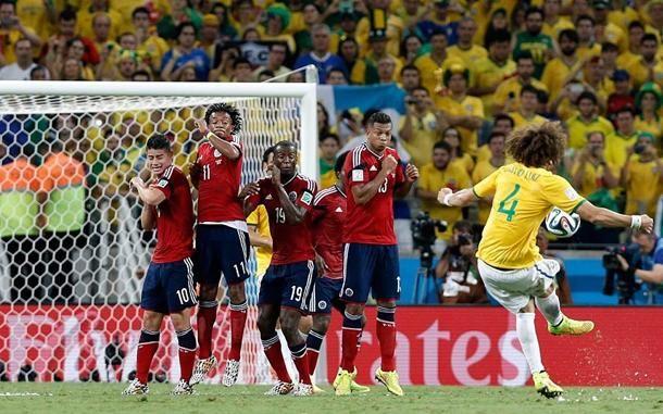 David Luiz (#Brasile) in Brasile - #Colombia #Mondiali2014