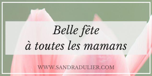 Bonne fête à toutes les mamans - Tulipe - Toutes les dates de fêtes des mères sur http://www.sandradulier.com/blog/pinterest/belle-fete-des-meres.html
