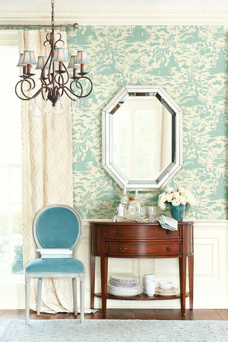ballard designs toile wallpaper house decorating ideas