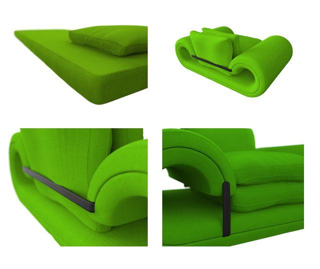 chair-sofa-bed detail designer Eugenio Bicci