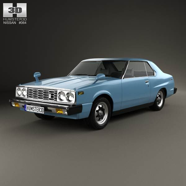 Nissan Skyline (C210) GT Coupe 1977 3d model from humster3d.com. Price: $75