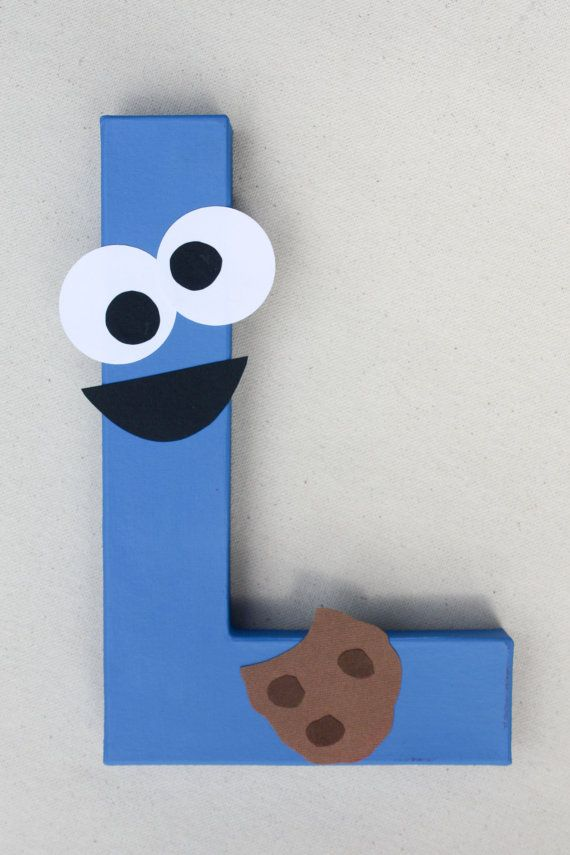 Cookie Monster Party Decoration  Sesame Street by LittleABCDesigns