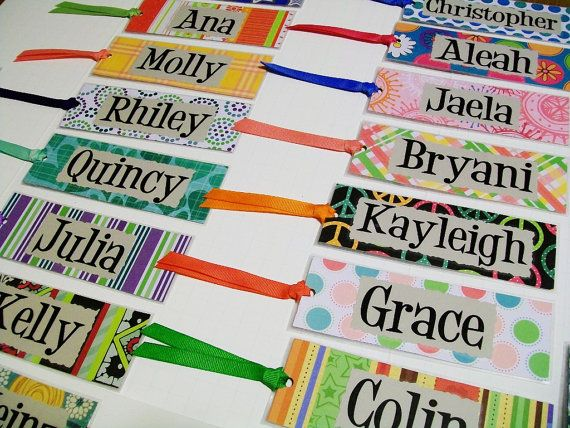 These are personalized bookmarks made by Sixpenny.  It gave me a great idea.  I can try to make my own and give out to my kids as a beginning of the year gift.