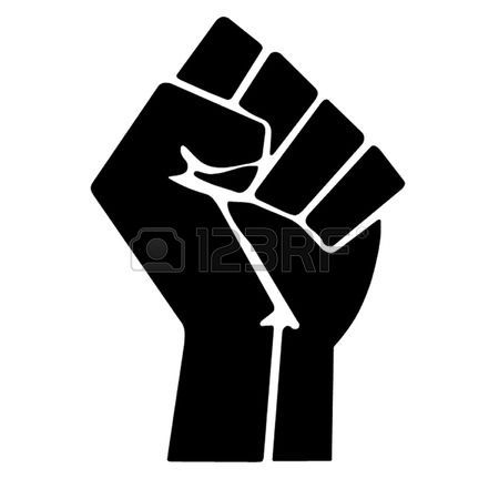 The raised fist symbolizes revolution and defiance, it is used by various movements including black power and occupy