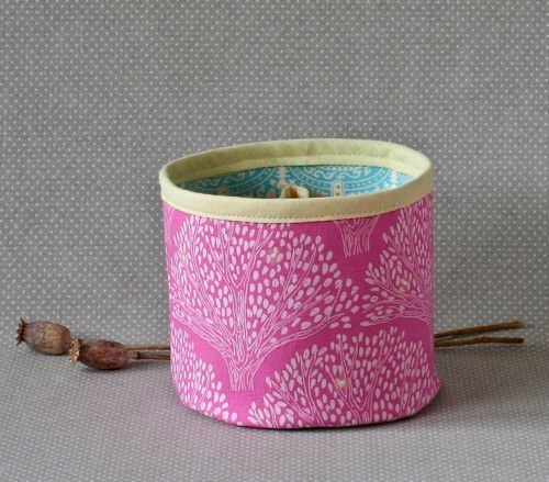 trees in pink...textile box